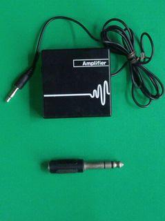 アンプと6.5mm変換アダプター